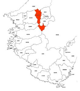かつらぎ町白地図